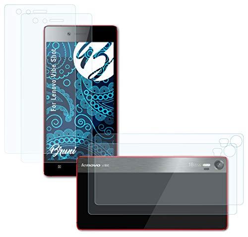 Bruni Schutzfolie kompatibel mit Lenovo Vibe Shot Folie, glasklare Bildschirmschutzfolie (2er Set)
