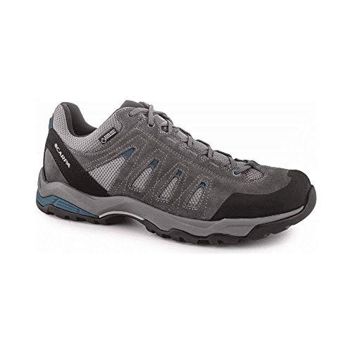 Scarpa Moraine GTX, Zapatillas de Trail Running Hombre, Gray-Storm Gray-Lake Blue Gore-Tex GT DYNATECH, 40 EU