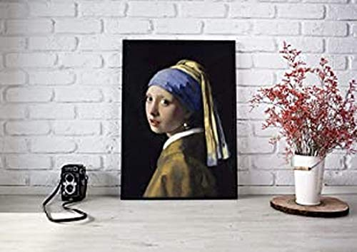 Girl With The Pearl Earring Jan Vermeer Famous Poster Unframed - Motivational Quote Wall Art Home Decor Print