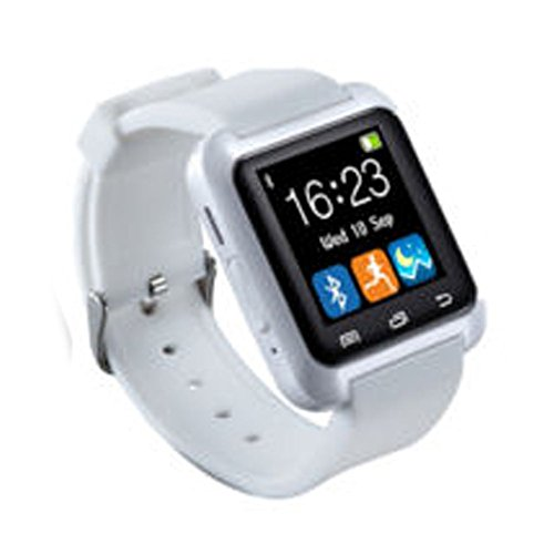 Smartwatch, Bluetooth Smart Watch U8 with Stopwatch SMS Call For IOS Android iphone Samsung, Wrist Watch(U8 Smart Watch - White,white)