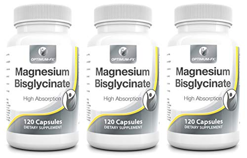 Magnesium Bisglycinate Capsules Not Tablets Bioavailable Mineral Supplement Easy to Take – Magnesium Has 10 Ten EU Approved Health Claims 175mg - 120 Vegan Capsules