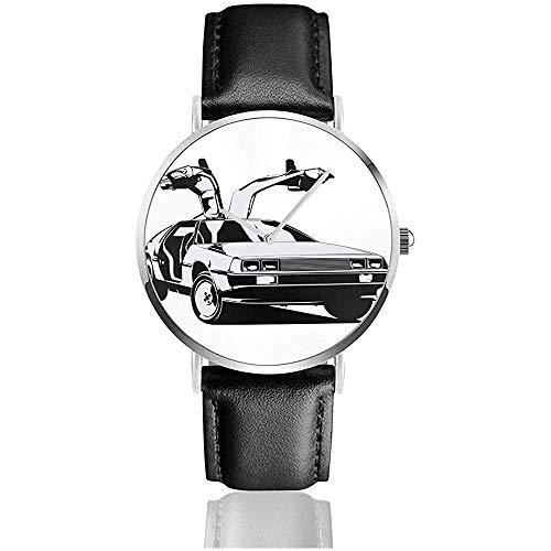 Unisex Business Casual Delorean Zurück in die Zukunft Uhren Quarz Leder Uhr