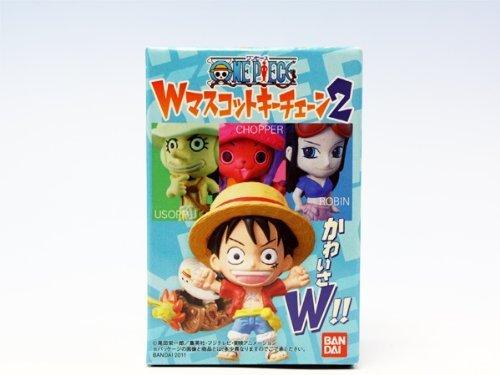 ワンピース Wマスコットキーチェーン2 ONE PIECE フィギュア アニメ 食玩 バンダイ(全6種フルコンプセット