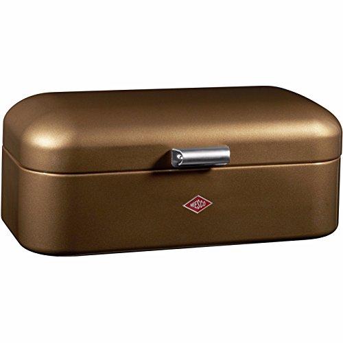 Wesco 235201-22 Brotkasten Grandy, 42 x 23 x 17 cm, chocolate brown