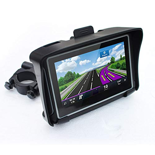 Thahamo 4.3 Inch Motorcycle DH Waterproof Vehicle GPS Navigator Multi-Function Vehicle Mounted Voice Broadcast Navigation Lane Guidance, Rugged Design for Harsh Weather