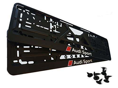 Kennzeichenhalter für Auto 2 Stück set sport Nummernschildhalter Nummernschilder mit Montage-Schrauben (EU Standard Grösse 52cm)