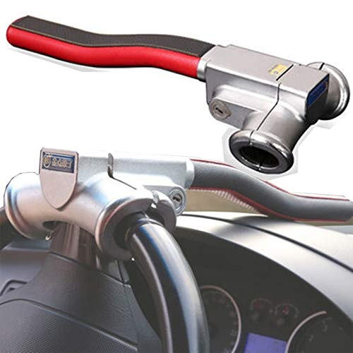 TERMALY Cerradura Volante Antirrobo,Seguridad Universal Antirrobo Seguridad para Autos Pesados Equipo de Bloqueo de Viaje con 3Keys Universal Car Truck Van SUV