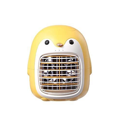 DRGRG Drgrg Aire Acondicionado Aire Acondicionado Portátil Pequeño Ventilador Eléctrico Usb Recargable Pingüino Ventilador De Refrigeración Por Agua Silencioso Mini Hogar Verano Para Oficina