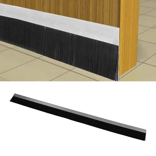 Trintion Bürstendichtung selbstklebend Türbodendichtung aus Aluminium Türdichtung Tür Dichtungsstreifen Türstopper Zugluftstopper gegen Insekt Ersatzdichtung 100 x 7.5 cm