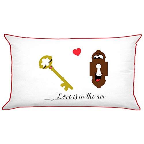 My Custom Style Coussins Polyester et Coton # Saint Valentin# Solo FEDERA 75x45cm Rettangolare-sanvalentino-coppia2_Rosso