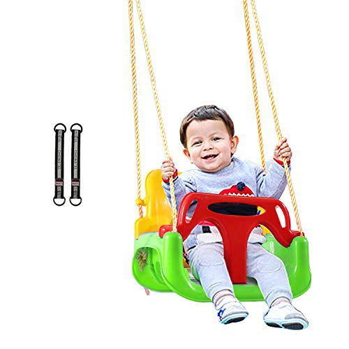 REDCAMP 3 in 1 Toddler Swing for Outside Tree, Sturdy Secure Plastic Outdoor Infants Baby Swing Seat...