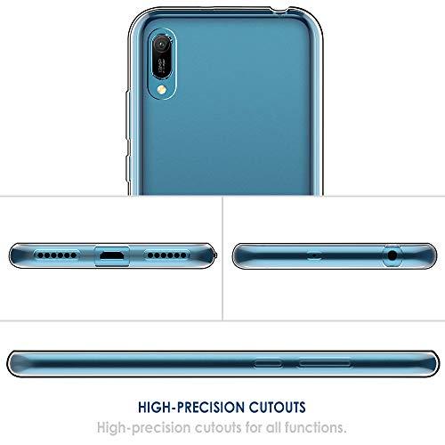 Simpeak Hülle Kompatibel für Huawei Y6 2019 [6,09 Zoll], Handyhülle Kompatibel mit Huawei Y6 2019 Soft Silikon TPU Durchsichtige Dünn SchutzHülle Case - Transparent