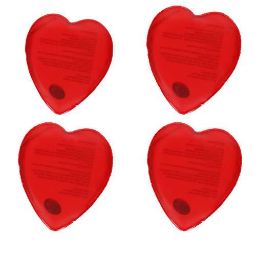 Taschenwärmer Herz-Förmig Gel-Wärmekissen Handwärmer 50° Celsius Fingerwärmer gegen Kalte Finger für Herbst und Winter (4er-Set)