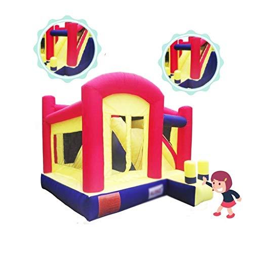 Children's luchtkasteel huis met blower opblaasbare mini-pretpark met glijbanen veiligheid van kinderen trampoline (Color : Red, Size : 360 * 400 * 280cm)
