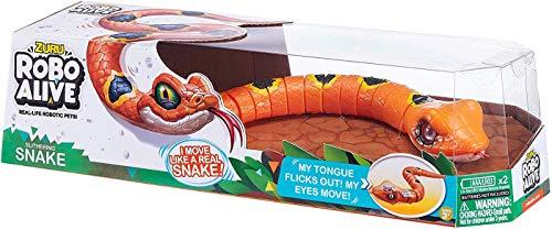 ROBO ALIVE Slithering Robotic Snake Orange Series 2