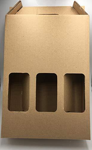 Estuche para 3 botellas. 34x248,5cm. Canal 5. Fabricado en España. (50)