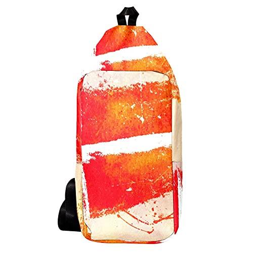 EZIOLY Mochila de hombro pintada con la bandera danesa para el fondo de la bandera, bandolera, bolso bandolera de viaje, senderismo, mochila para hombres y mujeres