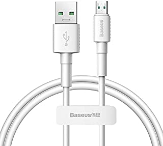 Mobile Phone Cables - Baseus Cable VOOC 4A Micro USB Cable for OPPO VIVO Dash Fast Charging Compatible 2A Charging for Samsung Xiaomi Redmi Cable USB (White 1m)