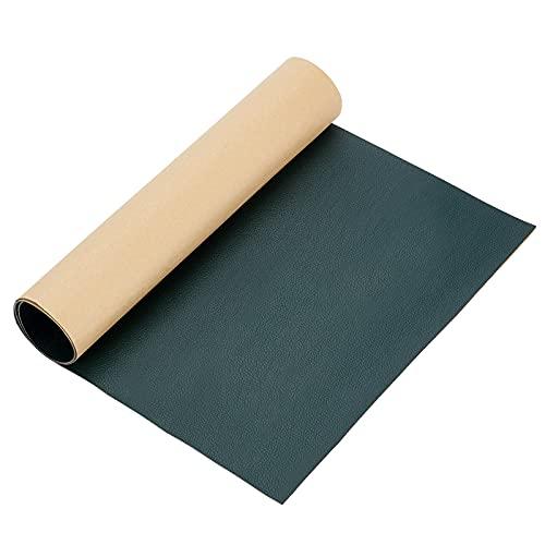 BENECREAT Parche de Reparación de Cuero Adhesivo 60x30cm para Sofá, Sofá, Asiento de Coche, Muebles (Verde Oscuro, 0.8mm de Espesor)