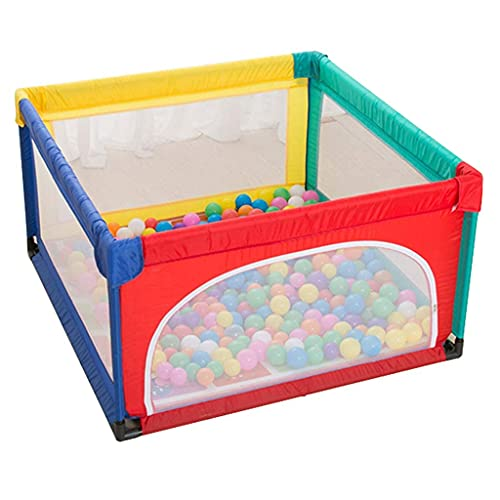 Baby Playpen Kids Activity Center Toddler Cerca Cerca de Seguridad Juegos de Juegos Juegos de Play Baby Gate Inicio Interior Al Aire Libre Nuevo Pluma (Color: Colorido, Tamaño: 120x120x70cm) Jialele
