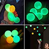 Globbles Sticky Balls That gets Stuck on The roof,Glow in The Dark Ceiling Sticky Balls,Sticky Wall Balls,Stress Balls Gifts for Kids and Adult Figit Toys,Sensory Toys for ADHD, OCD, Anxiety(4Pcs)