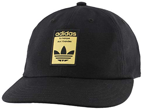 adidas Originals Gorra de Tirantes relajados para Hombre, Hombre, 976281, Negro y Dorado, Talla...