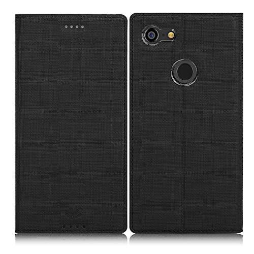 Eastcoo Google Pixel 3 XL Hülle, Flip Folio Wallet Leder Smart Hülle Tasche Schutzhülle Handyhülle mit[Kartenfach][Standfunktion][Magnetic Closure] für Google Pixel 3 XL Smartphone (Black)