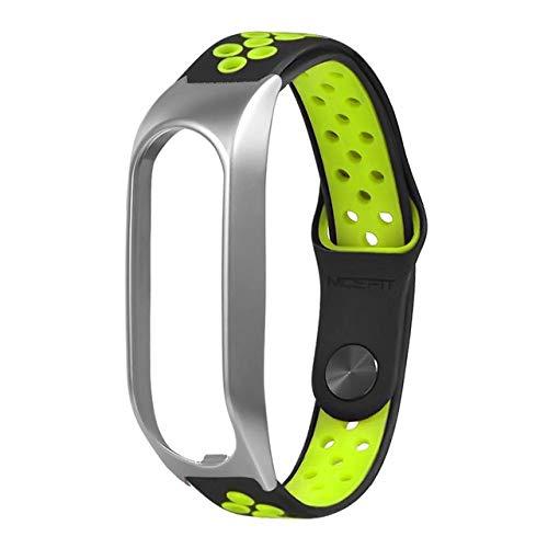 KJHKBKK Smart Watch Band für Tomtom Touch Armband Metall Zwei-Farben-Reverse-Schnalle Sportband Ersatzband Riemen für Tomtom 20MM, grün