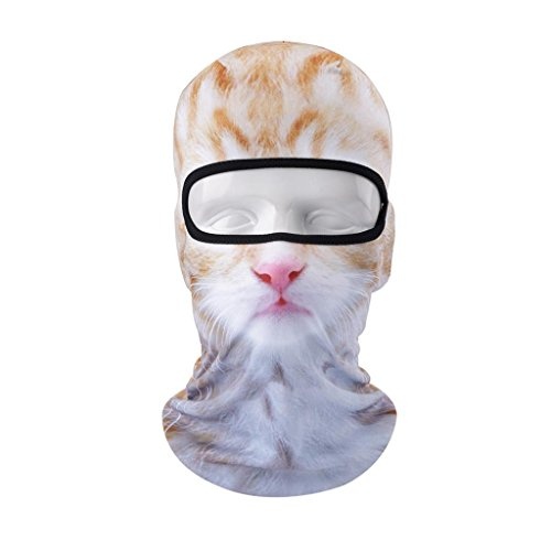 VERTAST Balaclava Face Mask Breathable 3D Animal Full Cover Cap Neck Gaiter Face Scarf for Cycling Skiing Motorcycling Helmet Liner Hiking Camping Fishing, Cat-Girl