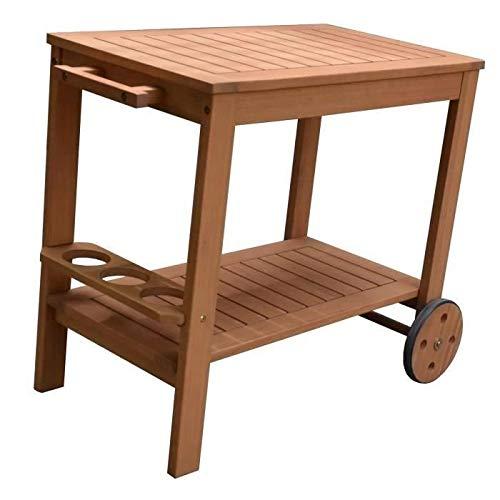 FSC Eukalyptus Holz Gartentisch - 91,8x49,9x74cm