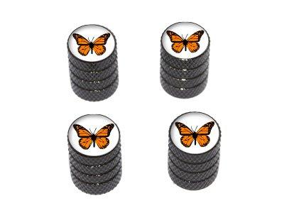 그래픽 및 기타 모나크 버터 플라이-타이어 림 밸브 스템 캡-블랙
