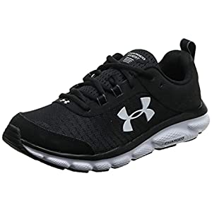 Under Armour mens Charged Assert 8 Running Shoe, Black/White, 11.5 X-Wide US