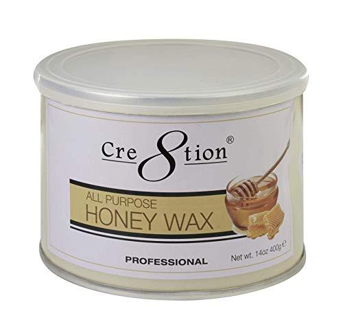 Hot All Purposes Honey Wax 14oz for Women and Men - Hair Removal on Face, Body, Leg, Lips, Nose, Mustache, Eyebrow, Ear Perfect for Brazilian and Bikini Wax Paper Waxing Strips Epilator Epilating