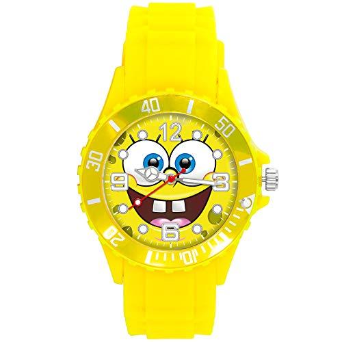 Reloj redondo amarillo de la banda de silicona para los fanáticos