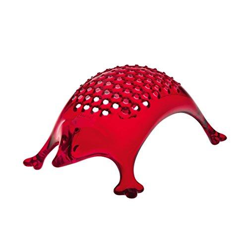 Koziol 3079536 Kasimir Râpe à Fromage Plastique Transparent/Rouge 7,9 x 13,3 x 4,6 cm