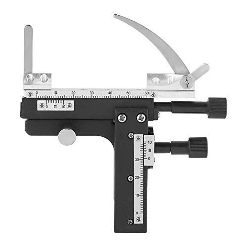 XUXUWA Measuring Ruler Microscope X-Y Moveable Stage Caliper, Attachable Caliper Vernier with High-Precision Scale Microscope Attachable Mechanical Stage for Microscope Calipers GBD