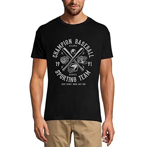 Ultrabasic Men's Sport T-Shirt Baseball Champion Atlanta Georgia - Camisa para Hombre - negro - X-Small