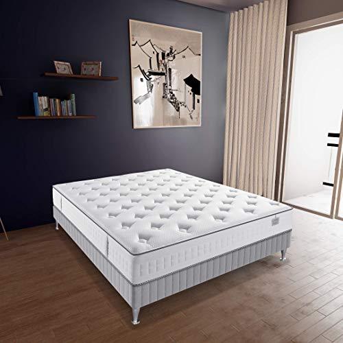 professionnel comparateur Simmons, matelas torsadé, ressorts ensachés, blanc, 160 x 200 cm, fabriqué en France, garantie 5 ans choix