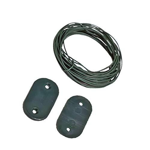 ribimex PRBVT30VE Kit de Fixation pour bâche Brise-Vue avec Fil et 30 plaques Vert