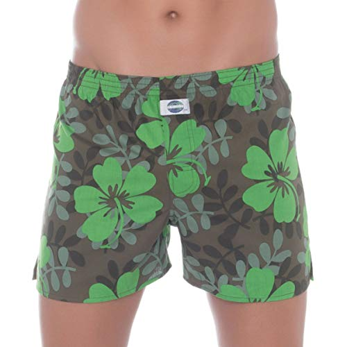 D.E.A.L International Boxershorts Grün mit Camouflage Muster Größe XL
