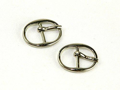 13 mm diapositive ovale en métal boucle de fermeture Fermeture – Argenté (cm)