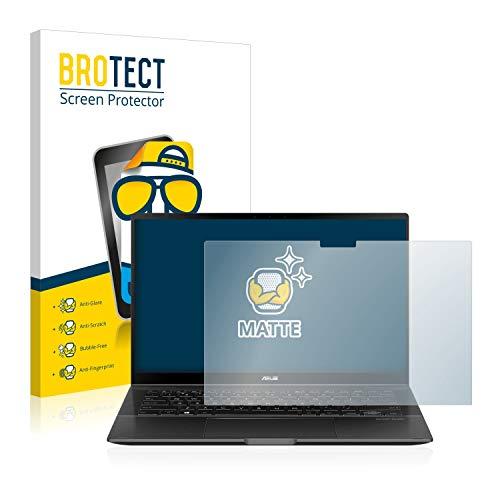 BROTECT Entspiegelungs-Schutzfolie kompatibel mit Asus ZenBook Flip 14 UX463FA Bildschirmschutz-Folie Matt, Anti-Reflex, Anti-Fingerprint