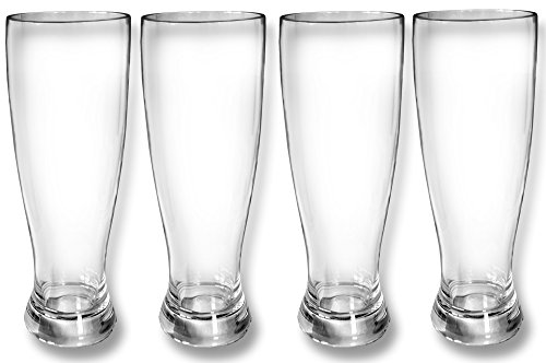 Global Wombat Drinkware Set 4X Weißbiergläser Weizenglas 500ml Polycarbonat Kunststoff bruchsicher