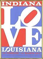 ポスター ロバート インディアナ Love louisiana 額装品 アルミ製ベーシックフレーム(ゴールド)