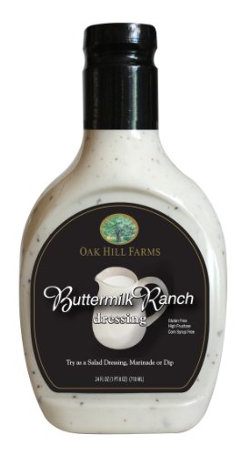 Oak Hill Farms Salad Dressings, Buttermilk Ranch, 24 Ounce (Pack of 6)