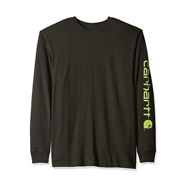 Carhartt Men's Signature Logo Long Sleeve T Shirt K231