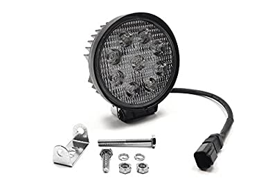 """Southern Truck 79912 4.5"""" 27W Round LED Light Flood (DT Harness 79900/2,160 Lumens"""