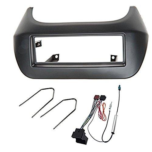 Sound-way Kit Montaggio Autoradio, Mascherina 1 DIN, Adattatore Connettore ISO, Chiavi di Smontaggio compatibile con Citroen Nemo, Fiat Qubo, Fiorino Peugeot Bipper