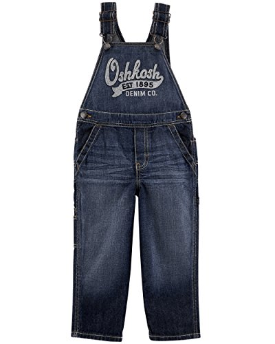 OshKosh B'Gosh World's Best Overol para niños, Union Wash Denim, 3 Años