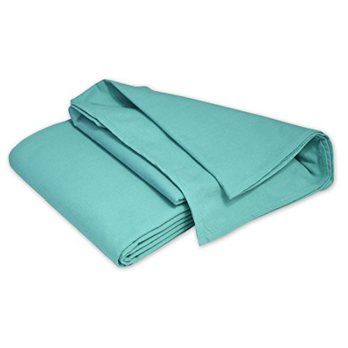 Qool24 Baumwolle Überwurf für Sofa & Sessel in Mehreren Farben und Größen Tagesdecke aus 100prozent Baumwolle Türkis 240 x 250 cm
